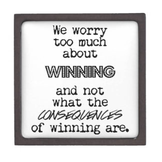 Winning and Consequences Premium Jewelry Boxes