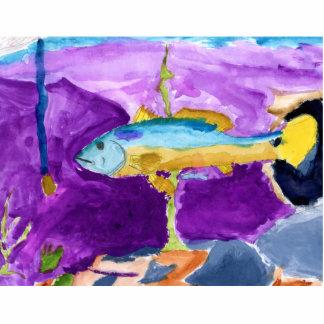 Winning art by  A. Pugh - Grade 4 Acrylic Cut Outs