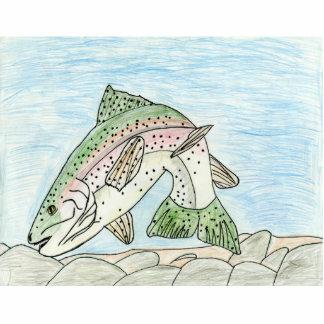 Winning art by  A. Sims - Grade 5 Acrylic Cut Out