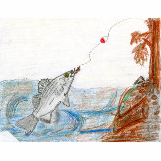 Winning art by  E. McKinney II - Grade 6 Standing Photo Sculpture