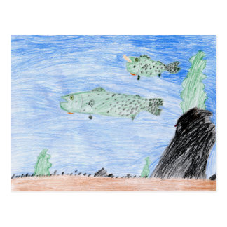 Winning art by  E. Riley - Grade 4 Postcard