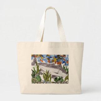 Winning artwork by A. Bryan, Grade 8 Jumbo Tote Bag