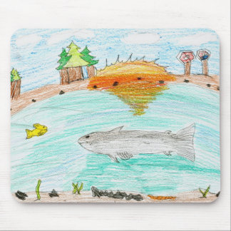 Winning artwork by C. Rousseau, Grade 4 Mouse Pad