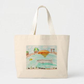 Winning artwork by C. Rousseau, Grade 4 Jumbo Tote Bag