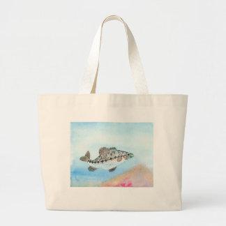 Winning artwork by E. Saliga, Grade 5 Jumbo Tote Bag
