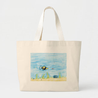 Winning artwork by R. Lacher, Grade 4 Jumbo Tote Bag