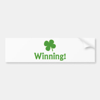 Winning Charlie Sheen St. Patrick's Day Bumper Sticker