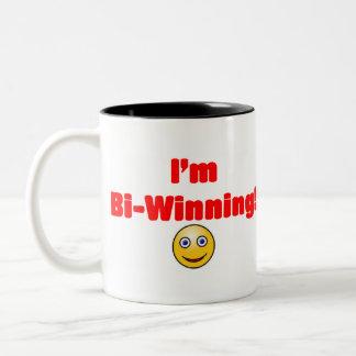 Winning Charlie Sheen Two-Tone Coffee Mug