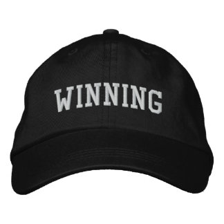 WINNING EMBROIDERED HAT