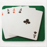 Winning Hand Four Aces Mousemat