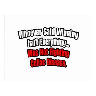 Winning Isn t Everything Quote Celiac Disease Postcard