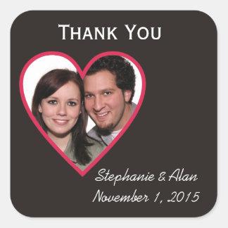 Winning Pair Thank You Wedding Stickers