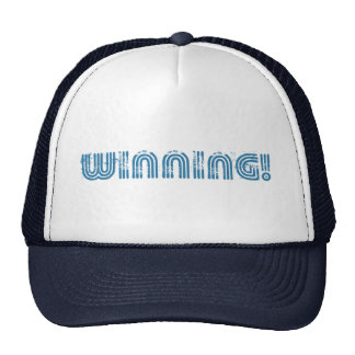Winning! trucker hat cap