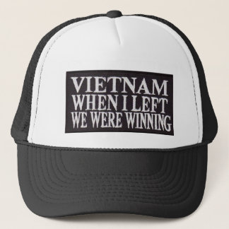 WINNING WHEN I LEFT TRUCKER HAT