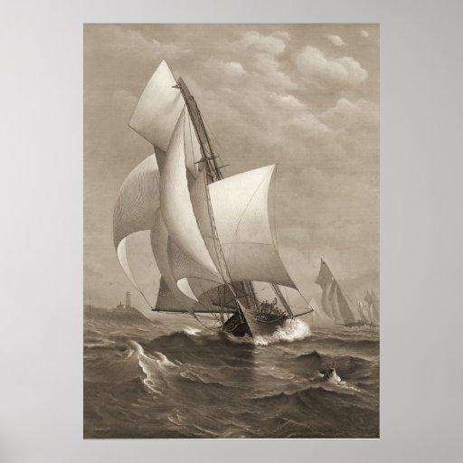 Winning Yacht 1885 Poster