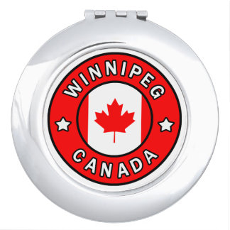 Winnipeg Canada Compact Mirror