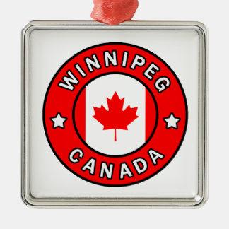 Winnipeg Canada Metal Ornament