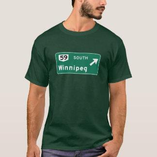 Winnipeg, Canada Road Sign T-Shirt