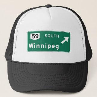 Winnipeg, Canada Road Sign Trucker Hat