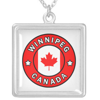Winnipeg Canada Silver Plated Necklace