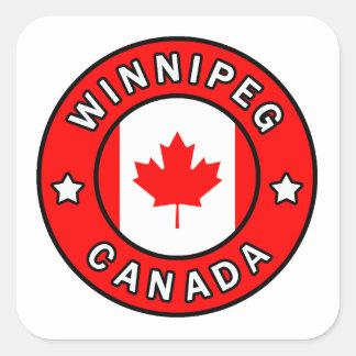 Winnipeg Canada Square Sticker