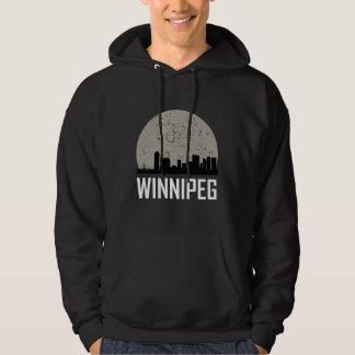 Winnipeg Full Moon Skyline Hoodie