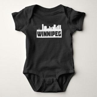 Winnipeg Manitoba Skyline Baby Bodysuit
