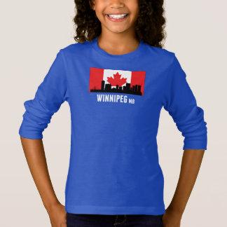 Winnipeg MB Canadian Flag T-Shirt