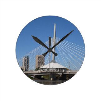 Winnipeg Provencher Bridge Round Clock