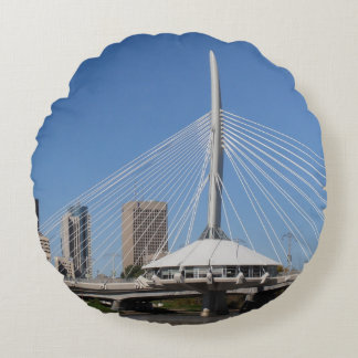 Winnipeg Provencher Bridge Round Cushion