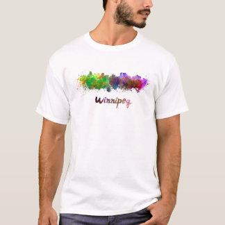Winnipeg skyline in watercolor T-Shirt