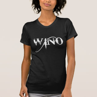 Wino Wine Lover Grunge Typography T-Shirt
