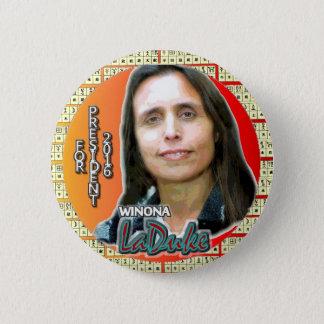 Winona LaDuke for President 2016 6 Cm Round Badge