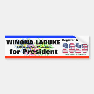 WINONA LADUKE FOR PRESIDENT 2020  - BUMPER STICKER