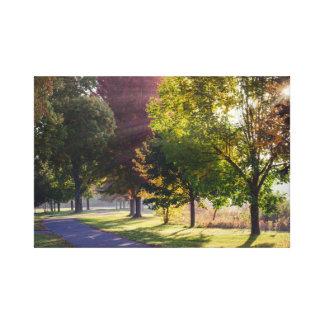 "Winona Lake Path 18x12  1.5"" Canvas Print"