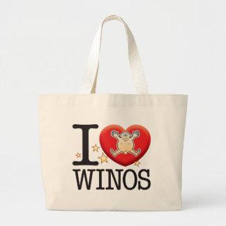 Winos Love Man Jumbo Tote Bag