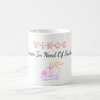 WINOS Women in Need Of Sailing Coffee Mug