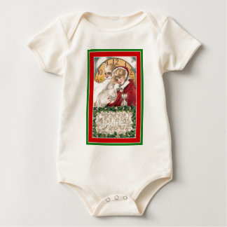 Winsch New Year;s Day Father Time & Young Woman Baby Bodysuit
