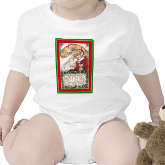 Winsch New Year;s Day Father Time & Young Woman Baby Bodysuits