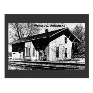 Winslow,Ar Train Depot Postcard