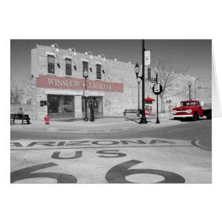 Winslow Arizona Red Splash Photograph Card