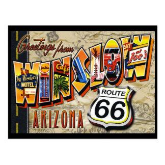 Winslow Arizona vintage postcard Postcard