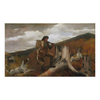 Winslow Homer A Huntsman and Dogs Poster