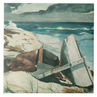 Winslow Homer - After the Hurricane, Bahamas Large Square Tile