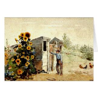 Winslow Homer - Backyard, Summer Card