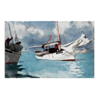 Winslow Homer Fishing Boats, Key West Poster