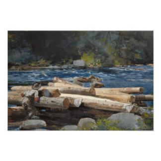 Winslow Homer - Hudson River Art Photo