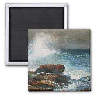 Winslow Homer - Incoming Tide, 1885, artwork Square Magnet