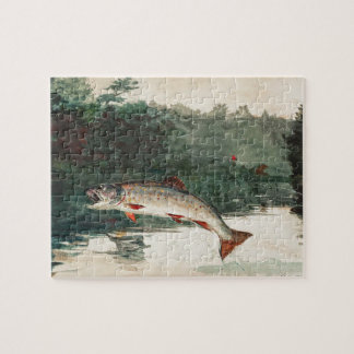 Winslow Homer Leaping Trout Jigsaw Puzzle