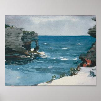 Winslow Homer - Rocky Shore, Bermuda Poster